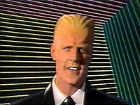 Matt Frewer as Max Headroom (Wikimedia)