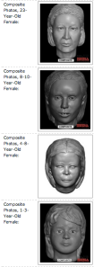 Screengrab of composites of the mystery victims, from New Hampshire DOJ