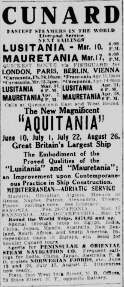 Ad published 2/25/1914 in the New York Tribune