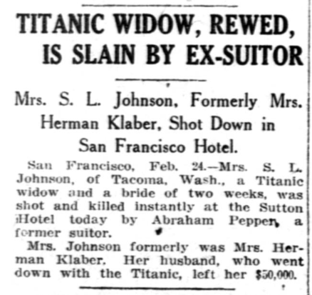 Published in the Washington Herald and nationwide on 2/25/1914
