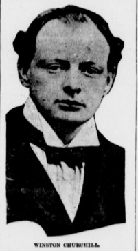 Winston Churchill, circa 1914. From a copy of the Ontario Argus, 2/26/1914.