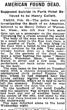 From the New York Times, published 2/27/1914