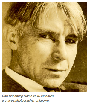 Carl Sandburg, via the National Park Service.