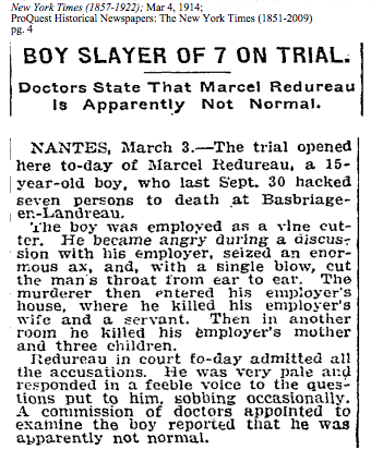 From the NYT, 3/4/1914