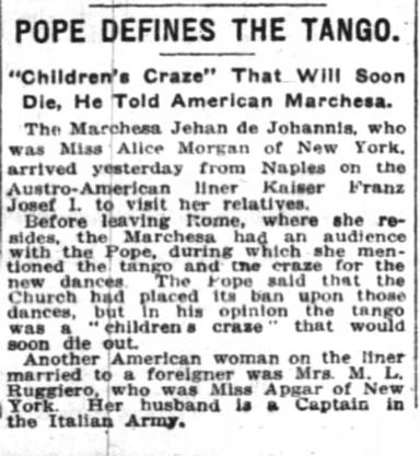 NYT, April 12, 1914