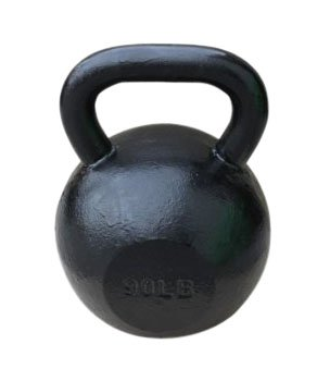 This is a real kettlebell. Those ridiculous little plastic kettlebells you see at Target are not kettlebells. This is the business.