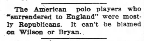 Blurb from the Wilmington, NC Morning Star, pubbed 6/19/1914.