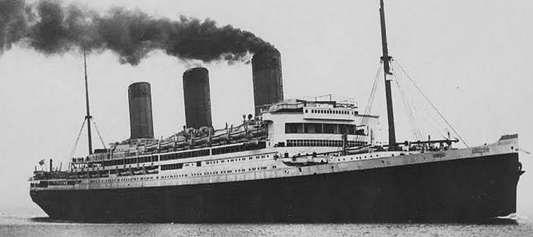 the Bismarck, later renamed Majestic. Public domain image, Wikipedia