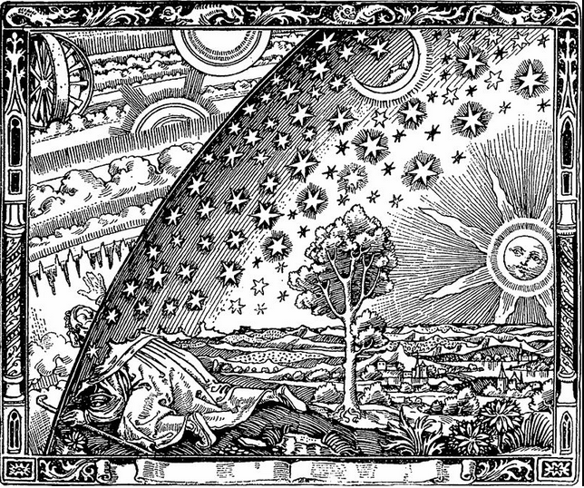 The Flammarion Engraving, artist unknown, associated with writings of Camille Flammarion - Wikipedia, public domain image