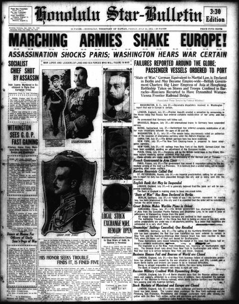Honolulu Star-Bulletin, July 31, 1914 (3:30 p.m. edition)
