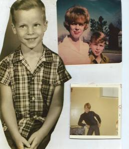 My brother David as a boy. Top right: with our mother.