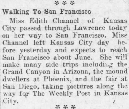 From the Lawrence, KS Daily Journal-World, 2/4/1915
