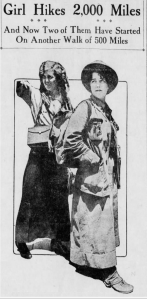 Olive Louise Woodward, Edith Channel, The Santa Cruz Evening News, 7/21/1915