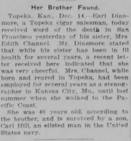 The Wichita, Kansas Beacon, 12/14/1915