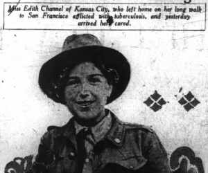 Edith Channel, SF Chronicle, 8/1/1915